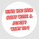 Funny Judge Pick-Up Line Stickers