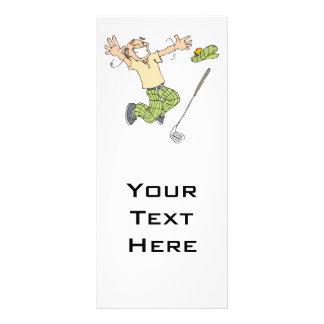 funny jumping for joy golfer custom rack card