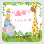 Funny Jungle Animals Announcements Sticker