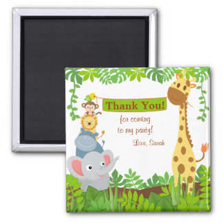 Funny Jungle Animals Thank You Magnet