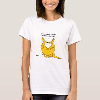 Funny Just Divorced Kangaroos Cartoon Womans T-Shirt
