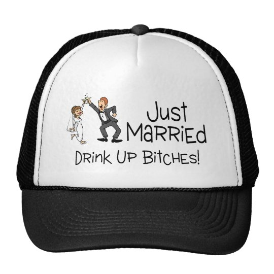Funny Just Married Wedding Toast Cap