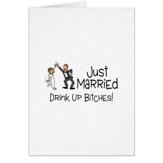 Funny Just Married Wedding Toast Greeting Card