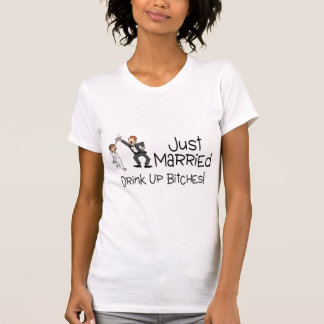 Funny Just Married Wedding Toast T-Shirt