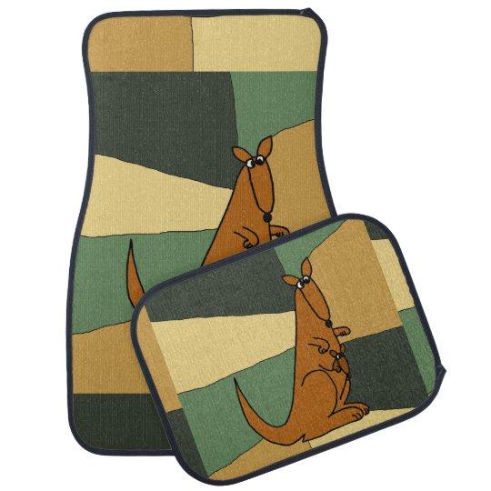 Funny Kangaroo Art Car Mat