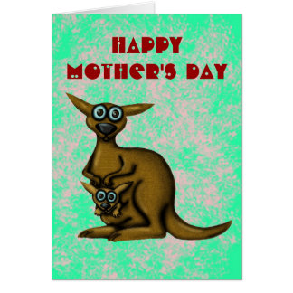 Funny kangaroo happy mother's day card