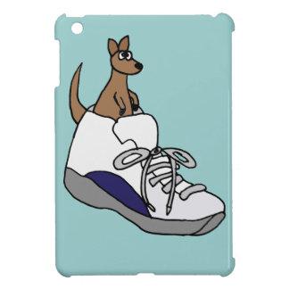 Funny Kangaroo in High Top Tennis Shoe Design Case For The iPad Mini