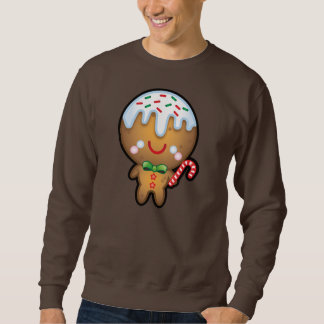 Funny Kawaii Gingerbread Man Christmas Mens Jumper Sweatshirt