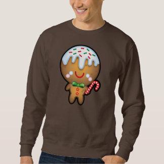 Funny Kawaii Gingerbread Man Christmas Mens Jumper Sweatshirt