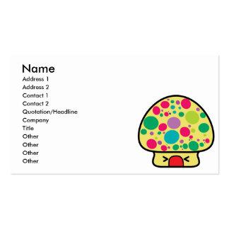 funny kawaii toadstool mushroom house business card
