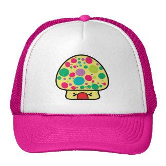 funny kawaii toadstool mushroom house mesh hat