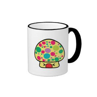 funny kawaii toadstool mushroom house mugs