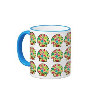 funny kawaii toadstool mushroom house coffee mugs