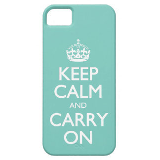 Funny Keep Calm And Carry On Cockatoo Mint Green W iPhone 5 Cover
