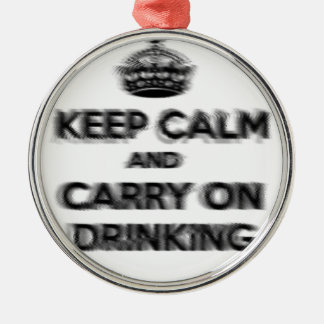 Funny Keep Calm And Carry On Drinking Christmas Ornament