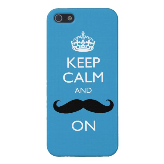 Funny Keep Calm and Moustache On iPhone 5 Case