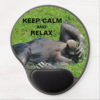 Funny Keep Calm and Relax Chimpanzee Gel Mouse Pad