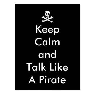 Funny Keep Calm and Talk Like a Pirate Postcard