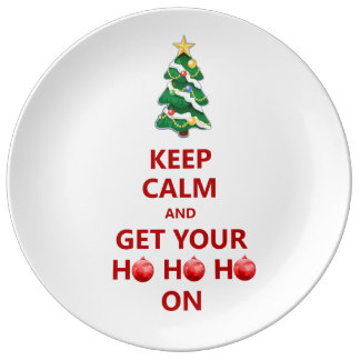 Funny Keep Calm Christmas Decorative Gift Plate