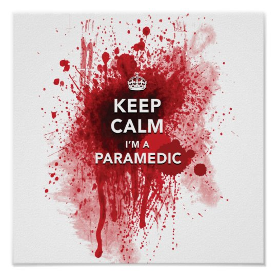 Funny 'Keep Calm, I'm a Paramedic' 12 x