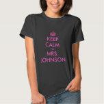 Funny Keep calm i'm Mrs. wedding t shirt for bride