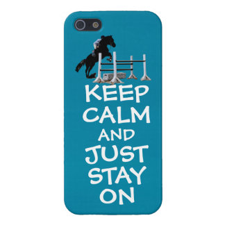 Funny Keep Calm & Just Stay On Horse iPhone 5 Case