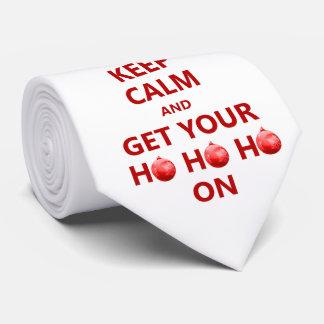 Funny Keep Calms Men's Christmas Tree White Tie