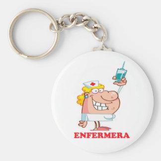 Funny key ring of nurse basic round button key ring