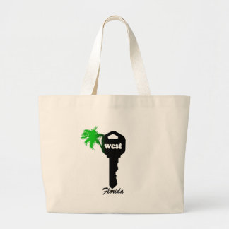 Funny Key West Large Tote Bag