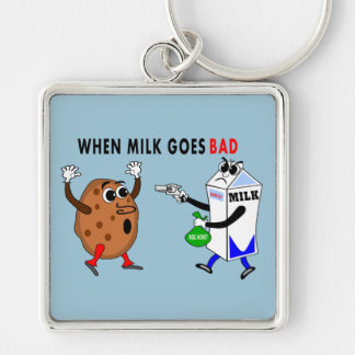 funny keychain when milk goes bad cookie image