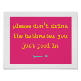 Funny Kids Bathroom Print
