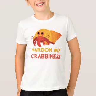 Funny Kids Cartoon Hermit Crab Tee