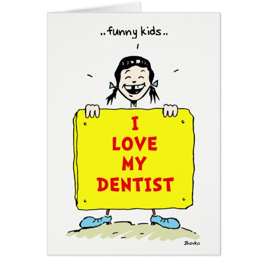 Funny Kids Positive Dental Quotes Greeting Card