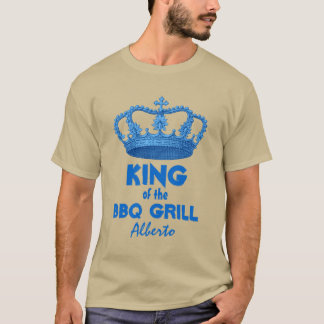 Funny King of the BBQ Grill with Crown V28A T-Shirt