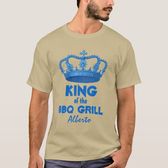 Funny King of the BBQ Grill with Crown