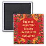 funny kitchen cooks pin square magnet