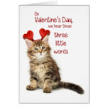 Funny Kitten Valentine Greeting Card