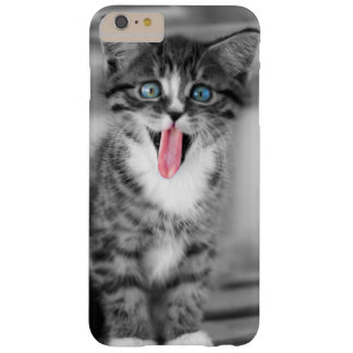 Funny Kitten With Tongue Hanging Out Barely There iPhone 6 Plus Case