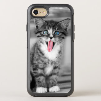 Funny Kitten With Tongue Hanging Out OtterBox Symmetry iPhone 8/7 Case
