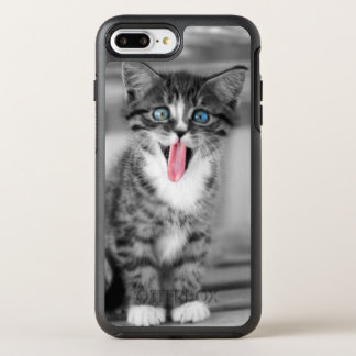 Funny Kitten With Tongue Hanging Out OtterBox Symmetry iPhone 8 Plus/7 Plus Case