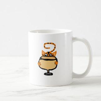 Funny Kitty Cat Drinking White Wine Basic White Mug