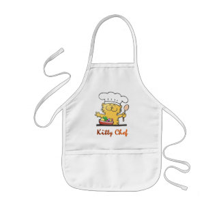 Funny Kitty Chef Can Cook Kids Apron
