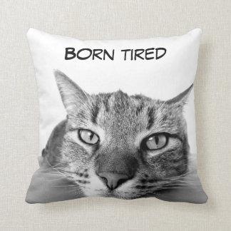Funny kitty throw pillow