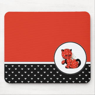 Funny Kitty Valentine's Day Gift Mousepads