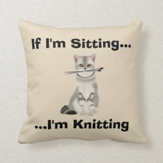 Funny Knitters Cushion