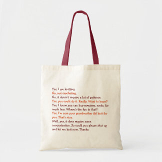 Funny Knitting Conversation Womens Moms Tote Bag