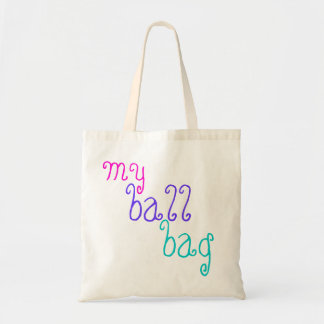 funny knitting 'my ball bag' for balls of wool tote bag