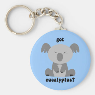Funny Koala Bear Basic Round Button Key Ring