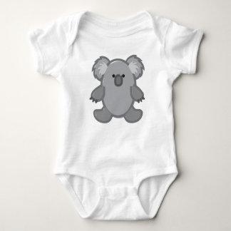 Funny Koala on White Baby Bodysuit