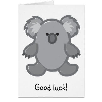 Funny Koala on White Card